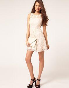 Lipsy Lace Skater Dress by asos