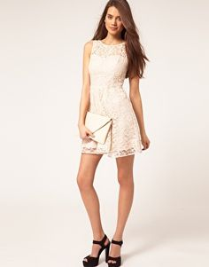 Lipsy Lace Skater Dress by asos