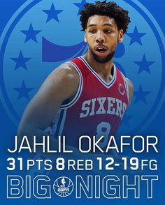 Jahlil Okafor notches a career-high 31 Pts in loss to Dallas Mavericks. 2/21/2016