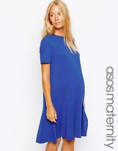 Enlarge ASOS Maternity Exclusive Shift Dress In Crepe With Pephem