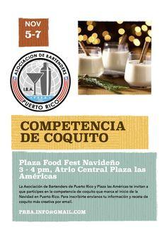 Competencia de Coquito @ Plaza Food Fest Navideño 2015 #sondeaquipr #prba #bartenderspr #plazafoodfest #plazalasamericas #coquito #navidades2015