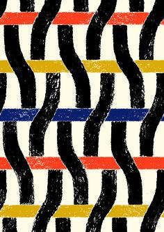 #minakani #geometric #ondulation #wave #weaving #stripe #grid #pastel