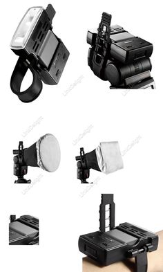A modeling light attachment for your small flash units, so you can see your ligthing effect while setting up your flash. Falconeyes VL-100 Auxiliary Focus Lamp Flash Partner Speedlite Modeling Light for Photography with Camera Flash