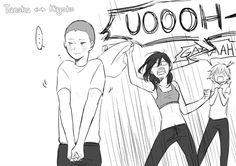 Personality swap: Tanaka and Shimizu. THIS IS SO PRECIOUS K #Haikyuu!! #Haikyuu #HQ #priceless