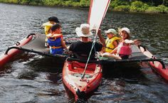 Only a Hobie Island Adventure could carry five passengers in a single kayak. Canoe Boat, Kayak Boats, Canoe And Kayak, Kayak Fishing, Fishing Boats, Kayaking Tips, Whitewater Kayaking, Canoeing, Kayak Hobie