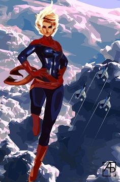 Captain Marvel. Ms.Marvel. Warbird. by AllenPanakalArt on Etsy