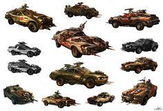 IDsoftware. Rage. car concepts, 2007.