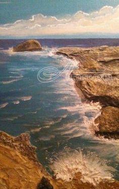 Title:Memory Rocks; Artist Name:Robert Crawford ; Description:mixed media seascape...; Art Form:Paintings; Style:Expressionism; Media:Mixed; Genre:Seascape
