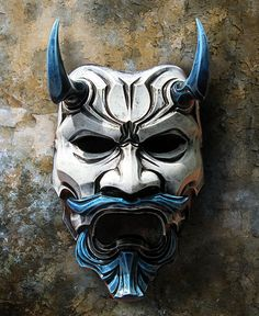 Uncle Oni mask NO.311 FREE SHIPPING! This piece derives from two video game characters, Tenkai from Onimusha, Dawn of Dream and Shimazu Yoshihiro