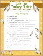 Thanksgiving game - bird beast or fish
