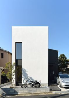 19 Ideas For House Arquitecture Design Architecture Japan Modern House, Narrow House Designs, Home Building Design, Small Modern Home, Minimalist Architecture, Facade Design, Facade House, Architect Design, Future House