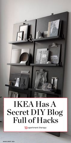 The people over at IKEA are all over the clever DIY projects shoppers have been crafting with its basics. In fact, the Swedish brand has a not-so-secret website that's a library chock-full of… Ikea Furniture Hacks, Furniture Projects, Furniture Storage, Dream Furniture, Furniture Refinishing, Paint Furniture, Metal Furniture, Repurposed Furniture, Ikea Furniture Makeover