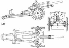 Blueprints > Weapons > Artillery and cannons > cm leFH 18 German Soldiers Ww2, German Army, Military Weapons, Military Army, Ww1 Battles, Tank Drawing, Gun Turret, Cool Tanks, Ww2 Tanks