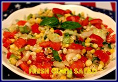 Sweet Tea and Cornbread: Fresh Corn Salad!  This sounds so good,,,would like to make but would definitely leave out the celery.