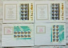 2000 SYDNEY OLYMPICS OPENING CATHY FREEMAN 10 STAMP SHEET LARGE FDC x 2