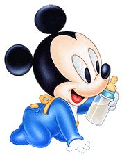 Baby Mickey w/Bottle