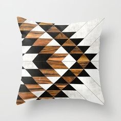 Urban Tribal Pattern 9 - Aztec - Concrete and Wood Throw Pillow 💕💕 pillows Cute and kawaii designs on pillows for teens, girls and kids. Find decorative pillows for bedroom, with sayings or beautiful designs. Throw Pillow Cases, Throw Pillows, Boho, Bohemian Design, Estilo Art Deco, Tribal Decor, Aztec Pillows, Tribal Patterns, Decorative Pillow Covers