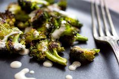 Roasted Broccoli With Tahini Garlic Sauce Recipe - NYT Cooking
