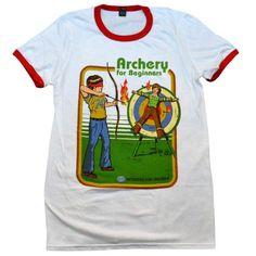 faffb9a4ae8  Archery for Beginners  Ringer Shirt