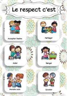 class displays - Comportement - Welcome Home Learning Activities, Kids Learning, Activities For Kids, Autism Education, French Language Lessons, Class Displays, French Education, French Expressions, French Classroom
