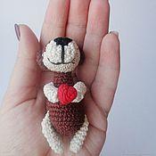 Куклы и игрушки ручной работы. Ярмарка Мастеров - ручная работа Собака-улыбака крючком. Handmade.