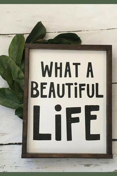Life is hard, but oh so beautiful! What a beautiful life sign, living room sign, gallery wall decor, home decor, farmhouse sign, farmhouse decor, rustic sign, inspirational decor, rustic decor #ad
