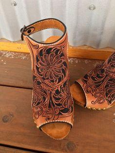 Custom Handmade Leather Wedge Sandal/Shoe CUSTOMER by Bar9LDesigns