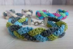 Triple Color Braided Macrame Bracelet | AllFreeJewelryMaking.com