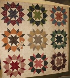 Swoon quilt by Primitive Gatherings.  I like seeing it in different colors besides modern fabrics.