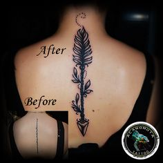 An arrow may fly through the air and leave no trace.but an ill thought leaves a trail like a serpent. Cover Up Tattoos, Cool Tattoos, Tatoos, Arrow Tattoos, Tattoo Studio, Henna, Tatting, Trail, Tattoo Ideas