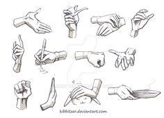 Hands Reference 2 by Kibbitzer.deviantart.com on @DeviantArt
