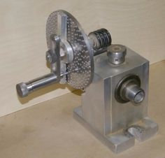 Dividing head made from an Atlas lathe spindle. Worm gear is 12 pitch x 40 teeth.
