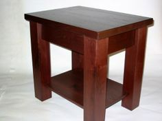 Solid Walnut End Tables by Cripplecreekwoodwork This goes with the chair :)