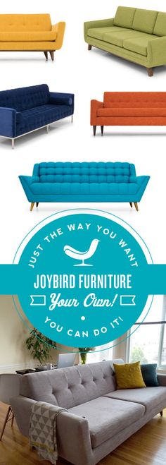 Shop for a custom sofa or couch with flat-rate shipping and lifetime warranty. Pick a new sofa from our huge range of size, color, fabric, & leather options. Furniture Decor, Modern Furniture, Muebles Living, Boho Home, Custom Sofa, My New Room, Home And Living, Home Furnishings, Mid-century Modern