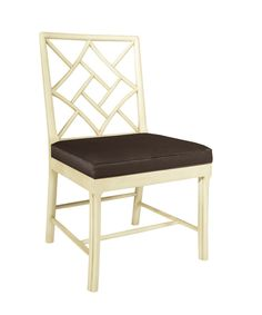 Fretwork Side Chair in Antique Ivory ---blisshomedesign.com