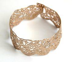 bracelet en or rose or 24 carats plaqué bracelet par inbarshahak, $79.00