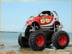 Smart car monster truck! The SMONSTER TRUCK? @Penny Tschann