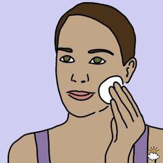 Нужно лишь смачивать тампон яблочным уксусом и протирать лицо. Эффект потрясающий!