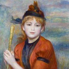Pierre-Auguste Renoir painted 'The Excursionist' in 1888.