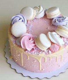 Gorgeous Cakes, Pretty Cakes, Cute Cakes, Amazing Cakes, Cake Cookies, Cupcake Cakes, Macaroon Cake, Cake Boss, Drip Cakes