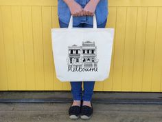 Melbourne Terrace House Tote Bag
