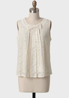 Going Steady Bow Blouse
