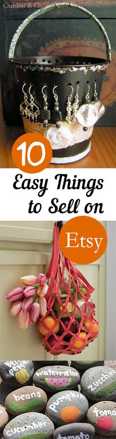 10 Easy Things to Sell on Etsy *Tips, tricks, hacks, shopping hacks, money hacks, cleaning, life hacks, life tips, make your life easier.