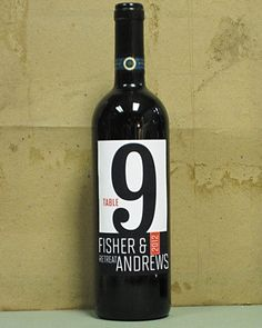 Custom Wine Label Table Numbers for Weddings, Special Events