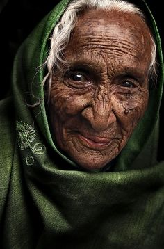 Rajasthan, India - why is it that we don't see beauty in the grace of years? To me, this portrait reflects the natural beauty of a woman who was walked many, many nights...