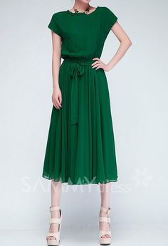 Solid Color Casual Scoop Neck Batwing Sleeveless Chiffon Dress For Women That color is fantastic.