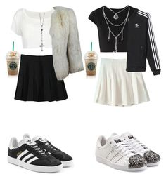 """Adidas 4 sisters."" by agnesenapoli on Polyvore featuring Alice + Olivia, adidas Originals, WithChic and adidas"