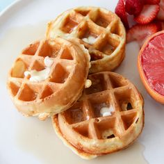 Eggless Waffles. A simple & delicious waffle recipe, without the use of eggs.