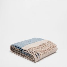 STRIPED WOOL THROW - Throws - Bedroom | Zara Home United States of America