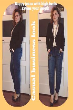 2 people people standing and shoes text that says Baggy jeans witYou can find Fashion trends 2020 and more on our peop. People People, Casual Looks, High Heels, Valentines, Movie, Website, Jeans, Fashion Trends, Shoes